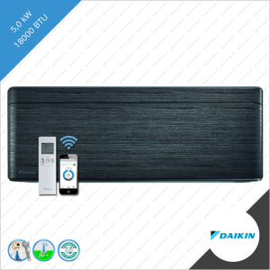 Daikin stylish binnen unit FTXA-50BT zwart hout