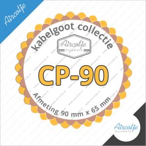 Flexibele bocht verbindingsstuk van ons Aircotje huismerk kabelgoot systeem type CP-90