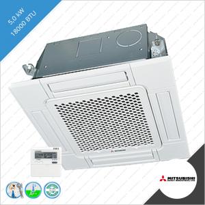 Split unit airco systeem de Mitsubishi Heavy Industries FDTC-VG 5,0 kW Wit als complete set.  Binnen unit typenummer: FDTC50VH Buiten unit typenummer: SRC 50 ZSX-W1