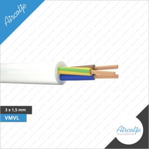 Voedingskabel 3 x 1.5 mm VMVL Wit