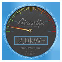 Airco systeem met een vermogen van 2,0 kW