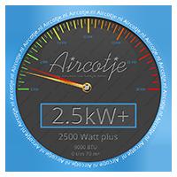 Airco systeem met een vermogen van 2,5 kW