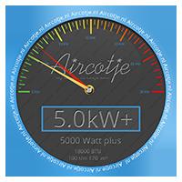 Airco systeem met een vermogen van 5,0 kW