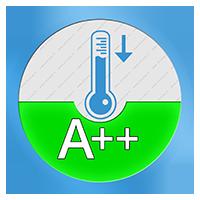 A++ Energielabel voor het koelend vermogen SEER
