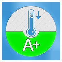 A+ Energielabel voor het koelend vermogen SEER