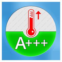 A+++ Energielabel voor het verwarmend vermogen SCOP