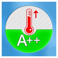 A++ Energielabel voor het verwarmend vermogen SCOP