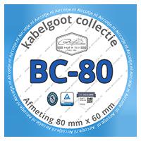 Compatibel met kabelgoot serie BC- 80