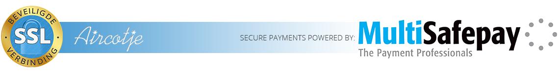 Secure payments bij Aircotje worden mogelijk gemaakt door Multisafepay