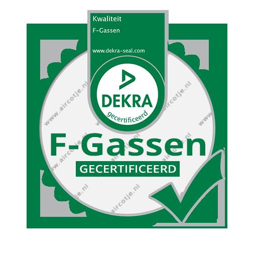DEKRA F gassen certificaat BRL 100
